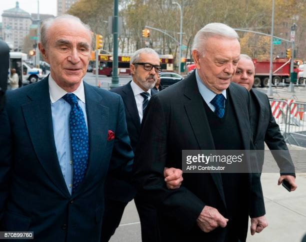 Former Brazilian National Football Federation president Jose Maria Marin arrives at Brooklyn Federal Court November 6 2017 in New York The bribery...