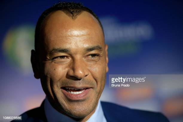 Former Brazilian National Football team player Cafu arrives for the Copa America 2019 Official Draw at Cidade das Artes on January 24 2019 in Rio de...