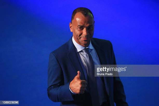 Former Brazilian National Football team player Cafu during the Copa America 2019 Official Draw at Cidade das Artes on January 24 2019 in Rio de...