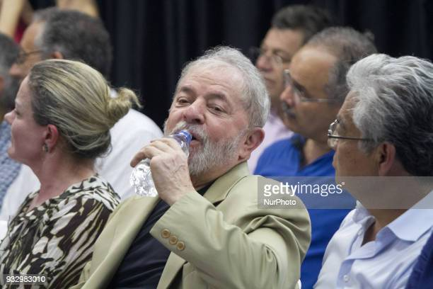 Former Brazilian President Luiz Inacio Lula da Silva during the launch of his book quotThe truth will win the people know why they condemn mequot at...