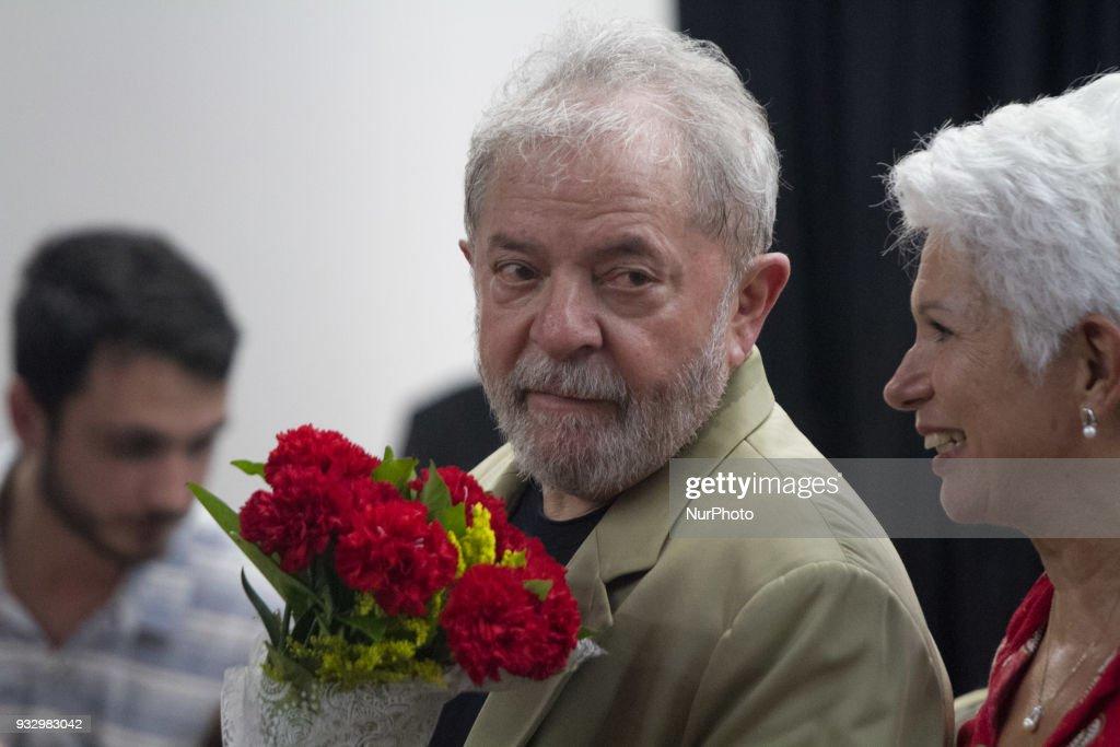 Former President Luiz Inacio Lula da Silva launch his new book
