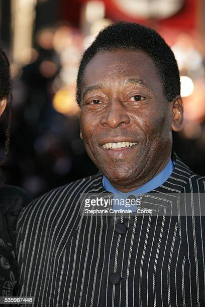 Former Brazilian soccer star Pele attends the premiere of Peindre ou Faire l'Amour in competition at the 58th Cannes Film Festival