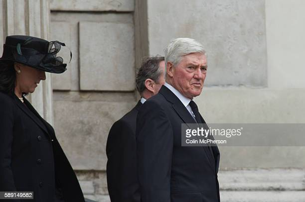 Former British Cabinet minister Cecil Parkinson departing St Paul's following the funeral service for Margaret Thatcher The funeral of Baroness...