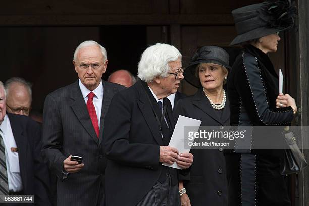 Former British Cabinet minister Lord Geoffrey Howe departing St Paul's following the funeral service for Margaret Thatcher The funeral of Baroness...