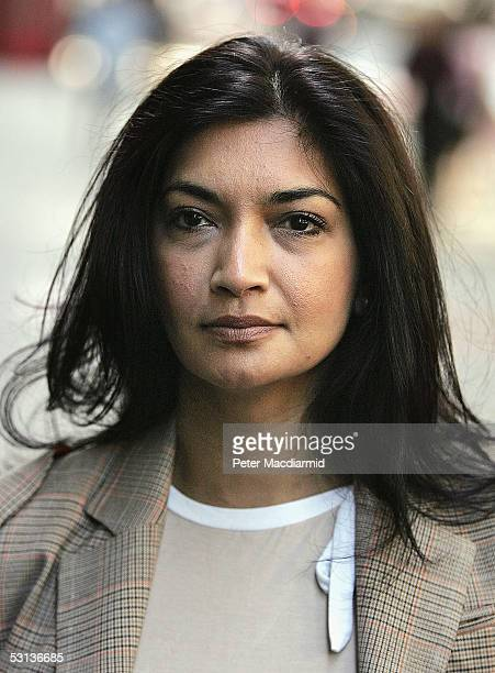 Former British Football Association secretary Faria Alam arrives at the Central London Employment Tribunal on June 23 2005 in London England The...