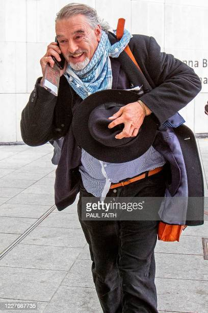 Former British journalist Ian Bailey leaves the High Court in Dublin on July 17 2020 after attending an extradition hearing considering the issue of...