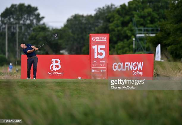 Former British Lions rugby captain Rory Best during the Pro Am event at The ISPS HANDA World Invitational at on July 28, 2021 in Ballymena, United...