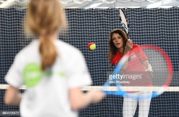 Former British No1 Annabel Croft attends the launch of Tennis for Kids 2017 the Lawn Tennis Association's grassroots initiative in partnership with...