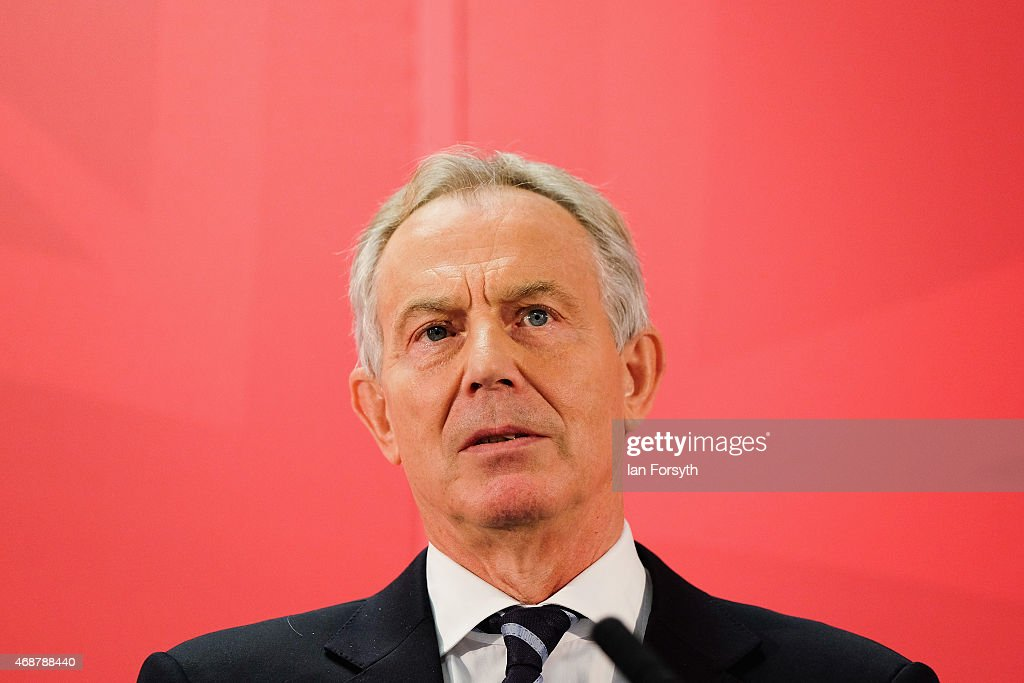 Former Prime Minister Tony Blair Returns To His Old Constituency : News Photo
