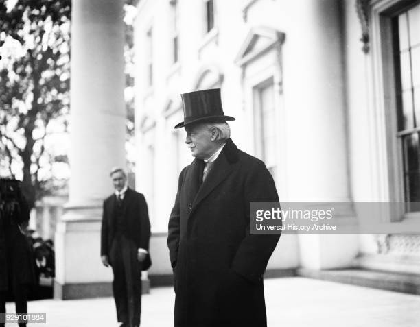 Former British Prime Minister David Lloyd George visiting White House Washington DC USA Harris Ewing 1923