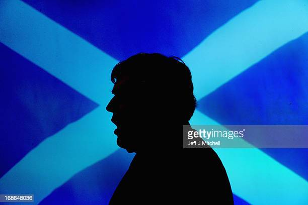 Former British Prime Minister Gordon Brown speaks at the Scottish Labour launch to keep Scotland as part of the UK on May 13 2013 in Glasgow Scotland...