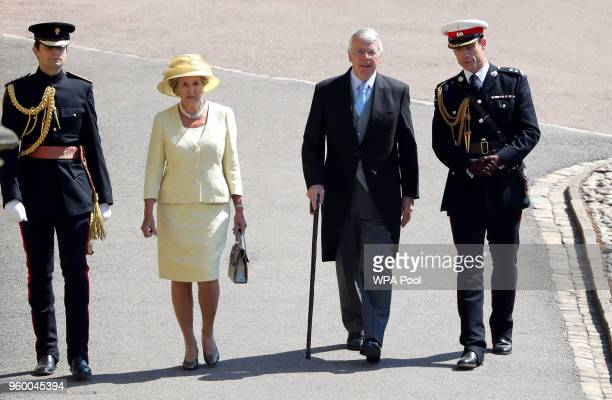 Former British Prime Minister John Major and wife Norma Major arrive for the wedding ceremony of Britain's Prince Harry and US actress Meghan Markle...