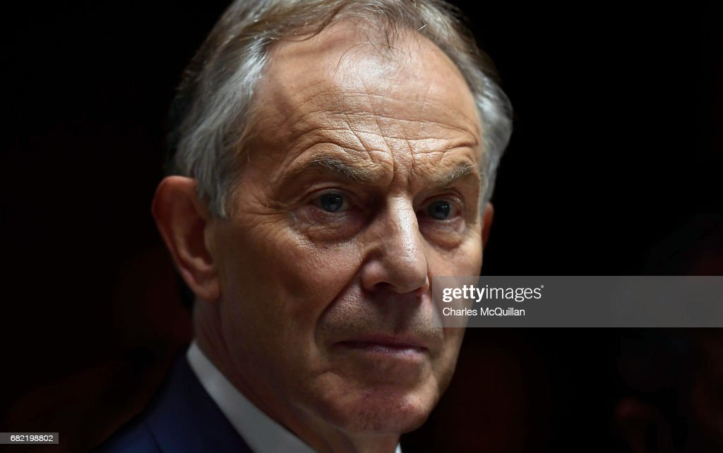 Tony Blair And Michel Barnier Attend EPP Meeting On Brexit : News Photo