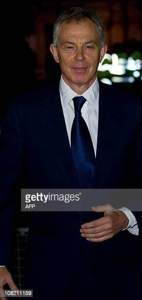 Former British Prime Minister Tony Blair arrives for the Iraq Inquiry at the Queen Elizabeth II Conference Centre in central London, on January 21,...
