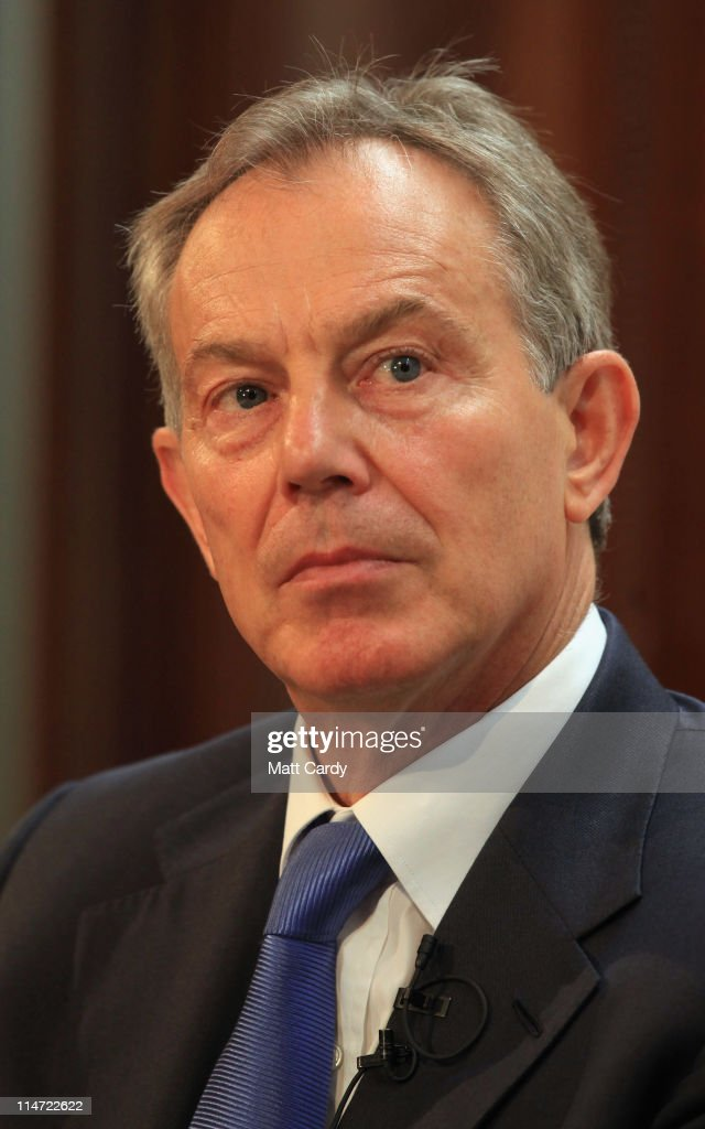 Former Prime Minister Tony Blair Meets Ronald Cohen : News Photo