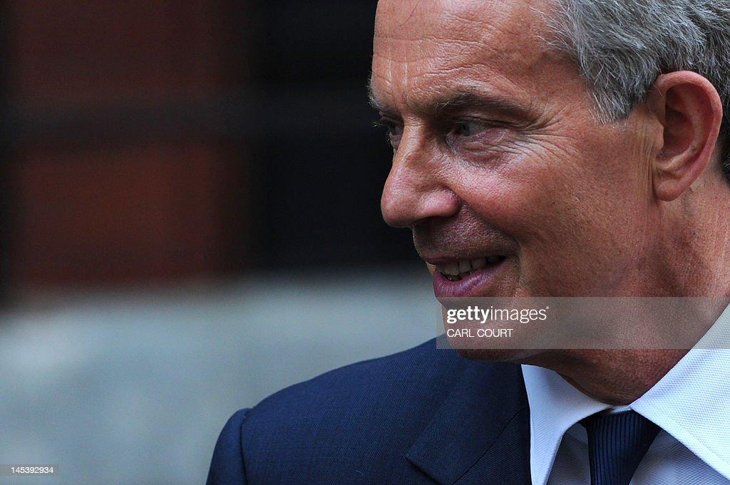 Former British prime minister Tony Blair : News Photo