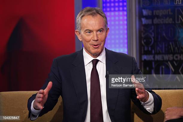 ACCESS *** Former British Prime Minister Tony Blair visits 'FOX Friends' at the FOX Studios on September 21 2010 in New York City