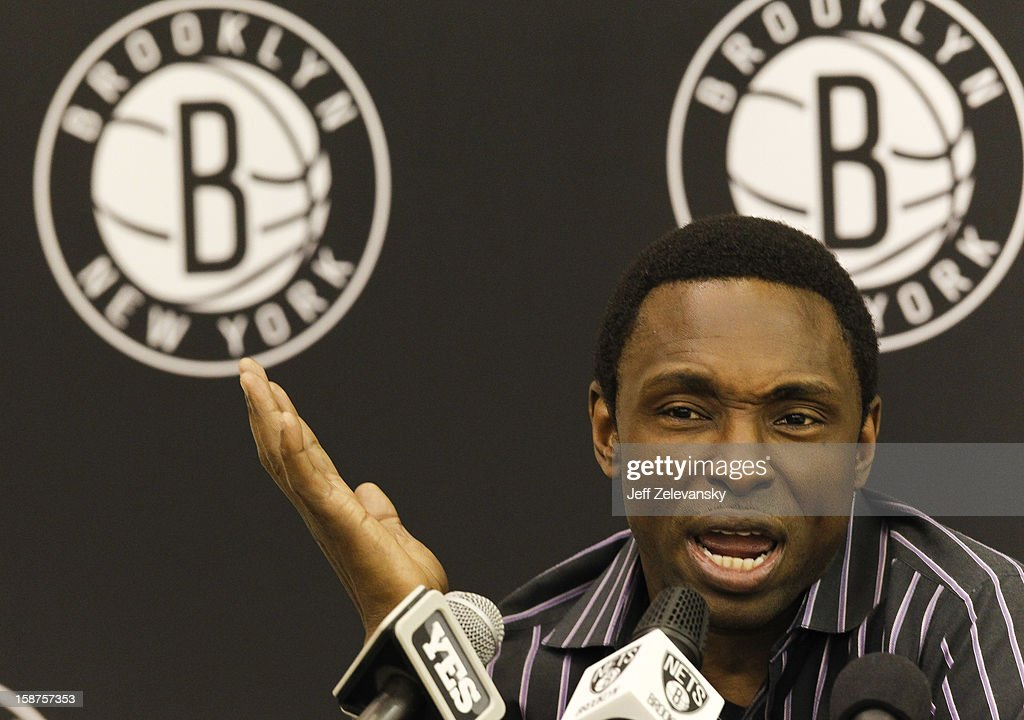 Former Brooklyn Nets head coach Avery Johnson speaks after his firing during a news conference at the PNY Center on December 27, 2012 in East Rutherford, New Jersey.