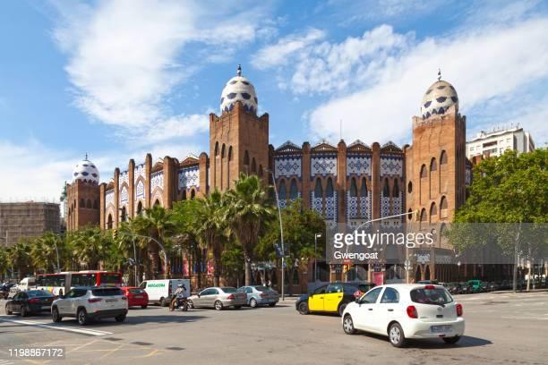 former bullfighting arena la monumental in barcelona - gwengoat foto e immagini stock