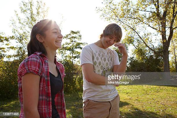 Former bully Daniel Harrison and his exbullying target now friend Courtney Kondor are photographed for People Magazine on September 17 2010 in...
