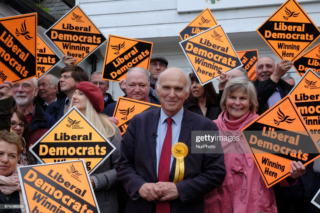 Liberal Democrats Press Event In Twickenham : News Photo