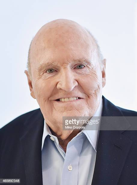 Former business executive author and chemical engineer Jack Welch poses for a portrait after being interviewed by LinkedIn Executive Editor Dan Roth...