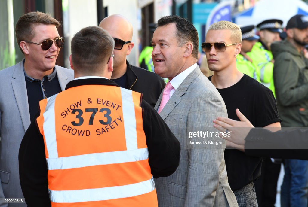 Former butler to Diana Princess of Wales, Paul Burrell trying to gain access to an area of Windsor before the wedding of Prince Harry to Ms. Meghan Markle St George's Chapel, Windsor Castle on May 19, 2018 in Windsor, England. Prince Henry Charles Albert David of Wales marries Ms. Meghan Markle in a service at St George's Chapel inside the grounds of Windsor Castle. Among the guests were 2200 members of the public, the royal family and Ms. Markle's Mother Doria Ragland.