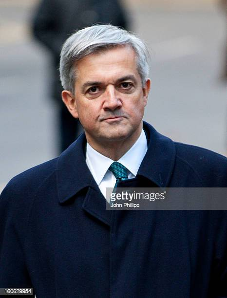 Former Cabinet Minister Chris Huhne arrives at Southwark Crown Court on February 4 2013 in London England Former Cabinet member Chris Huhne and his...