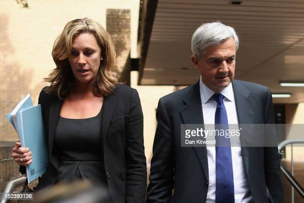 Former Cabinet Minister Chris Huhne leaves Southwark Crown Court after a pretrial hearing on September 20 2012 in London England Mr Huhne and his...