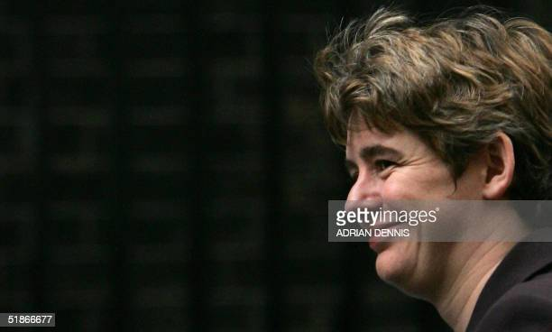 Former Cabinet Office minister Ruth Kelly arrives at Downing Street en route to a cabinet meeting in London, 16 December 2004. Kelly replaces Charles...
