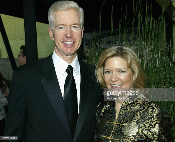 Former California Governor Gray Davis and wife Sharon pose for pictures at the 6th Annual Awards Celebration Viewing Dinner for Children Uniting...