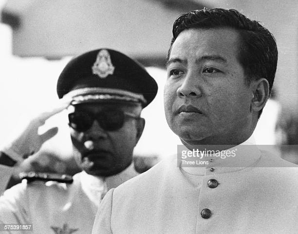 Former Cambodia King Norodom Sihanouk at a naval event, circa 1960.