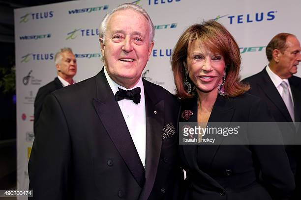 Former Canadian Prime Minister Brian Mulroney and wife Mila Mulroney arrive at the David Foster Foundation Miracle Gala And Concert at Mattamy...