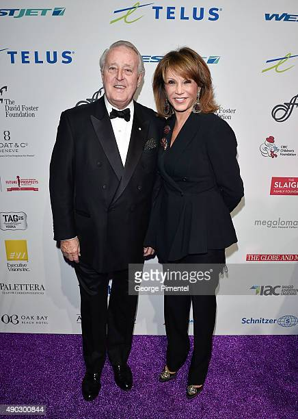 Former Canadian Prime Minister Brian Mulroney and wife Mila Mulroney attends David Foster Foundation Miracle Gala And Concert held at Mattamy...