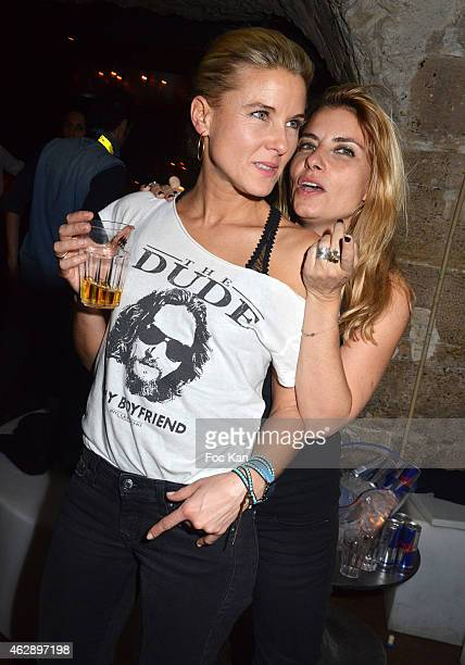 Former Canal Plus TV journalist Stephanie Renouvin and Maia Muller attend the Quentin Margot And Mourad Moox DJ Set Party At The Alcazar Club on...