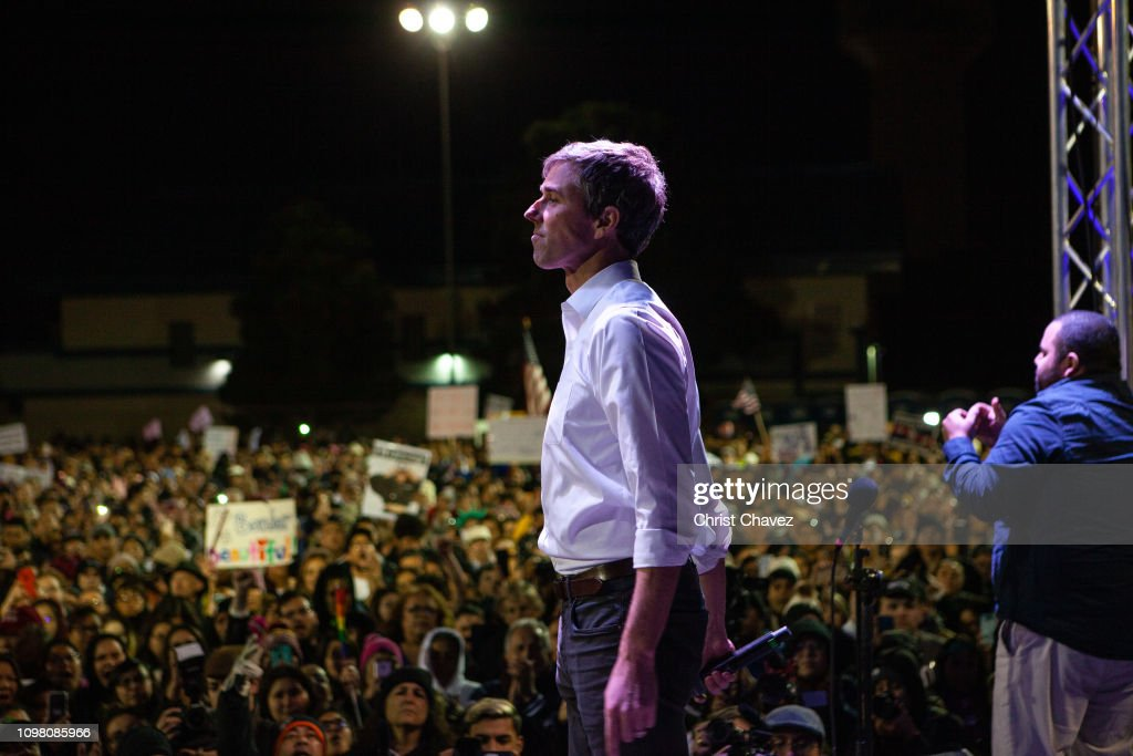 Beto O'Rourke Joins Protest March Against President Trump In El Paso : News Photo