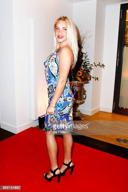 Former candidate of the TV show 'The Bachelor' Evelyn Burdecki attends the German Boxing Awards 2017 on October 8 2017 in Hamburg Germany