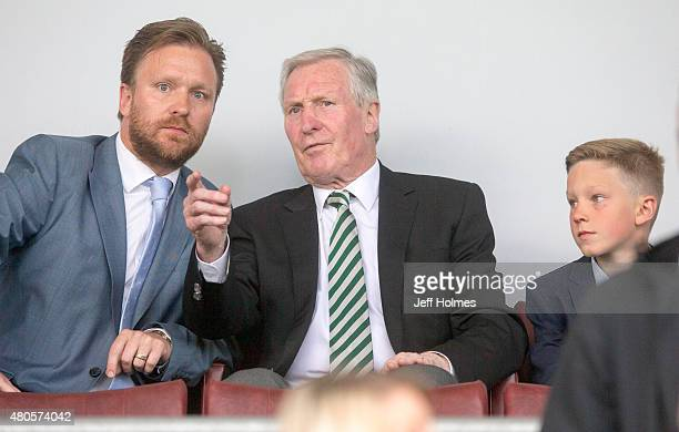Former captain and manager of Celtic Billy McNeill at the Pre Season Friendly between Celtic and Real Sociedad at St Mirren Park on July 10th 2015 in...