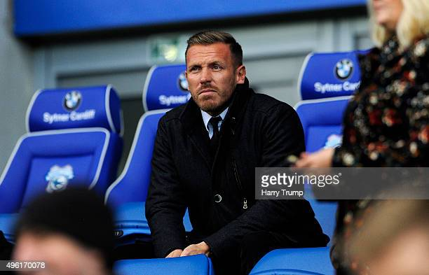 Former Cardiff City player and Wales International Craig Bellamy during the Sky Bet Championship match between Cardiff City and Reading at the...