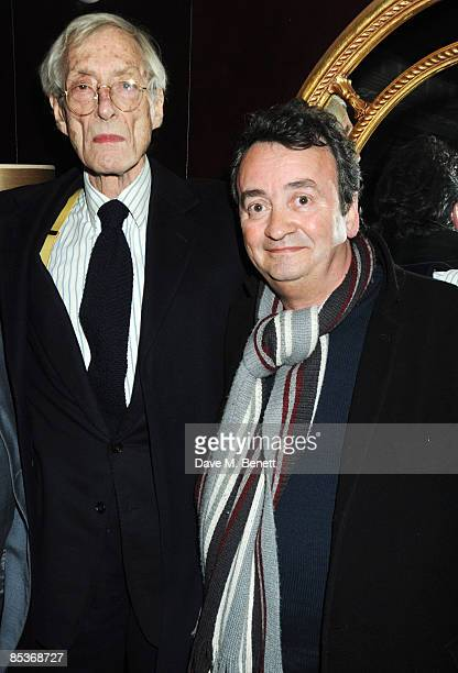 Former career criminal Bruce Reynolds and Gerry Conlon who had been wrongly convicted of IRA bombings attend the afterparty following the special...