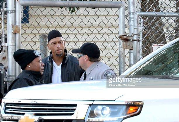 Former Carolina Panthers wide receiver Rae Carruth exits the Sampson Correctional Institution on Monday Oct 22 2018 in Clinton NC