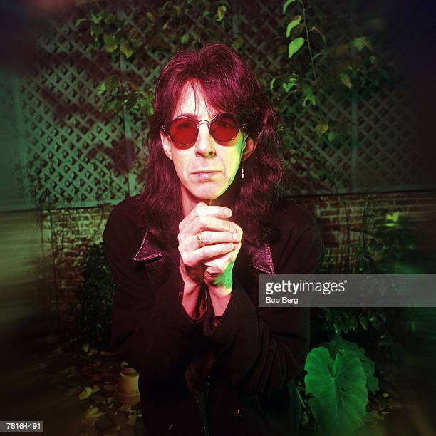 Former Cars singer/songwriter and producer Ric Ocasek poses for a June 1995 portrait in New York City, New York.
