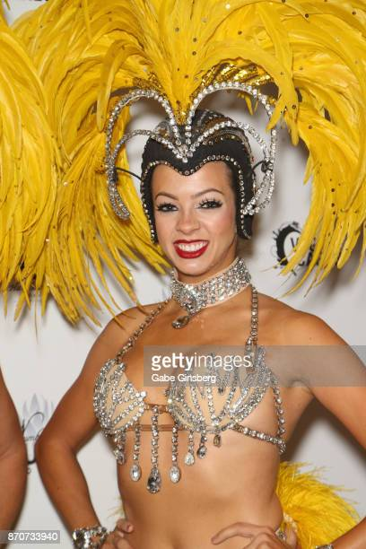 Former cast member of the 'Jubilee' show Stephanie Bell attends the Vegas Cares benefit at The Venetian Las Vegas honoring victims and first...