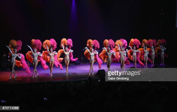 Former cast members of the 'Jubilee' show perform during the Vegas Cares benefit at The Venetian Las Vegas honoring victims and first responders of...