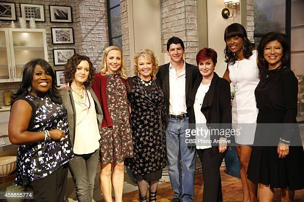 Former castmates from the television series Roseanne including Roseanne Barr Lecy Goranson and Michael Fishman visit The Talk Tuesday November 4 2014...
