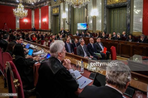 Former Catalan Minister of the Interior Joaquim Forn former Catalan Minister of Foreign Affairs Raül Romeva and former Catalan VicePresident Oriol...