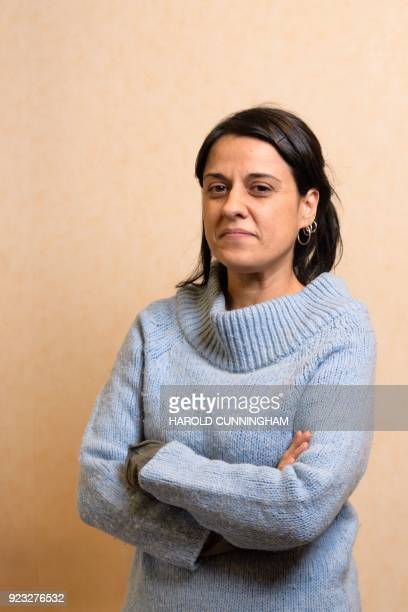 Former Catalan MP Anna Gabriel poses for a photograph after giving on February 22 2018 in Geneva Anna Gabriel a proindependence former member of the...