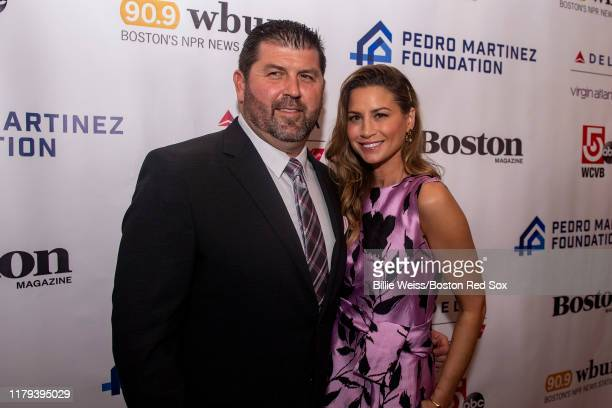 Former catcher Jason Varitek of the Boston Red Sox and his wife Catherine attend the Pedro Martinez Foundation Fourth Annual Gala Supporting AtRisk...