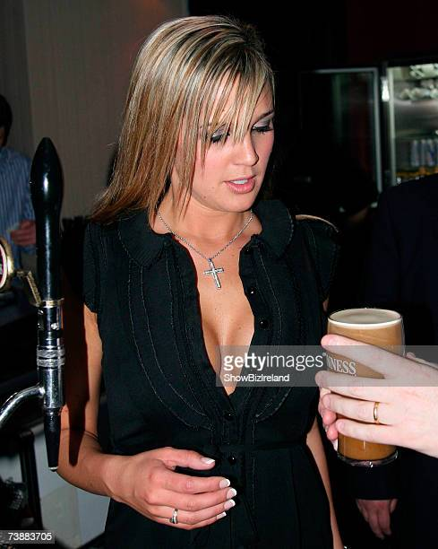 Former celebrity Big Brother star Danielle Lloyd attends Touch Night Club April 13 2007 in Dublin Ireland