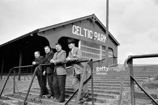 Former Celtic football players visit their former grounds. 26th March 1961.